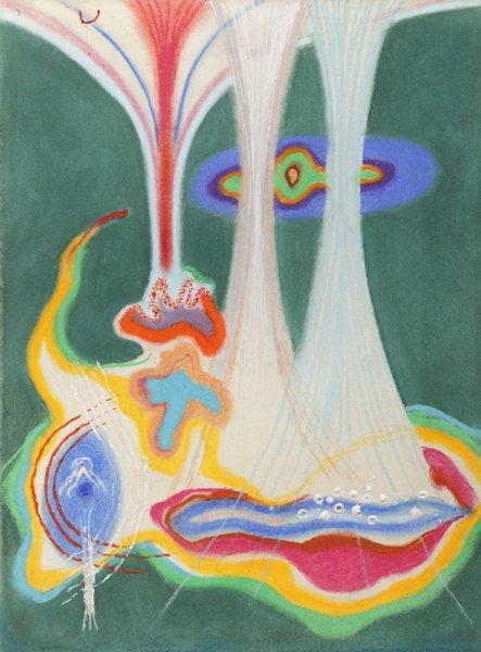 Lidskokosmické / 1996 / pastel, tempera, papír / 37'8×27'8 cm / soukromá sbírka / foto: Martin Polák