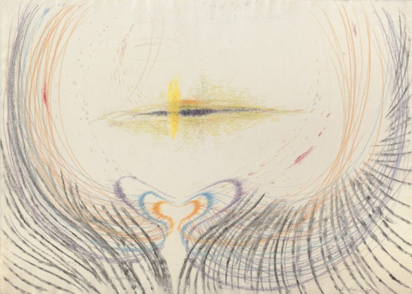 Pozoruji trhlinu v prostoru / 1979 / pastel, papír / 38'8×52'2 cm / soukromá sbírka / foto: Martin Polák