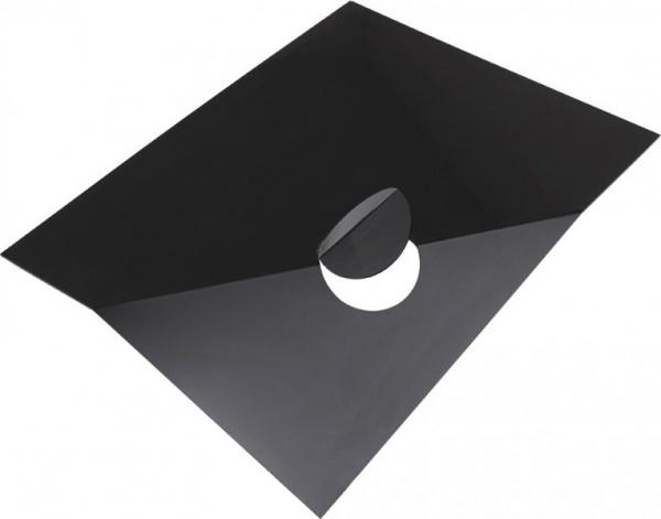 Černá plastika / 1968–1969 / černé plexisklo / 80×100 cm / soukromá sbírka akad. arch. Josefa Wagnera / foto: Martin Polák