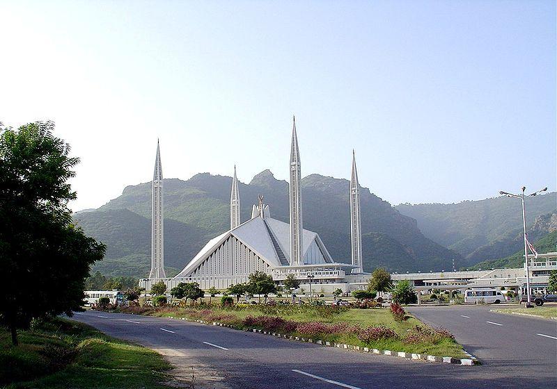 moderní mešita v Ismabádu