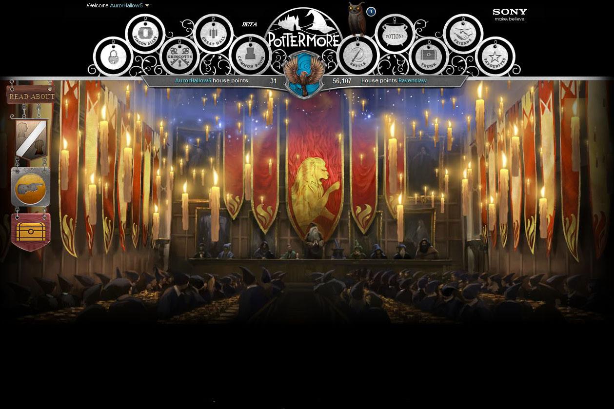 Pottermore - Velká síň