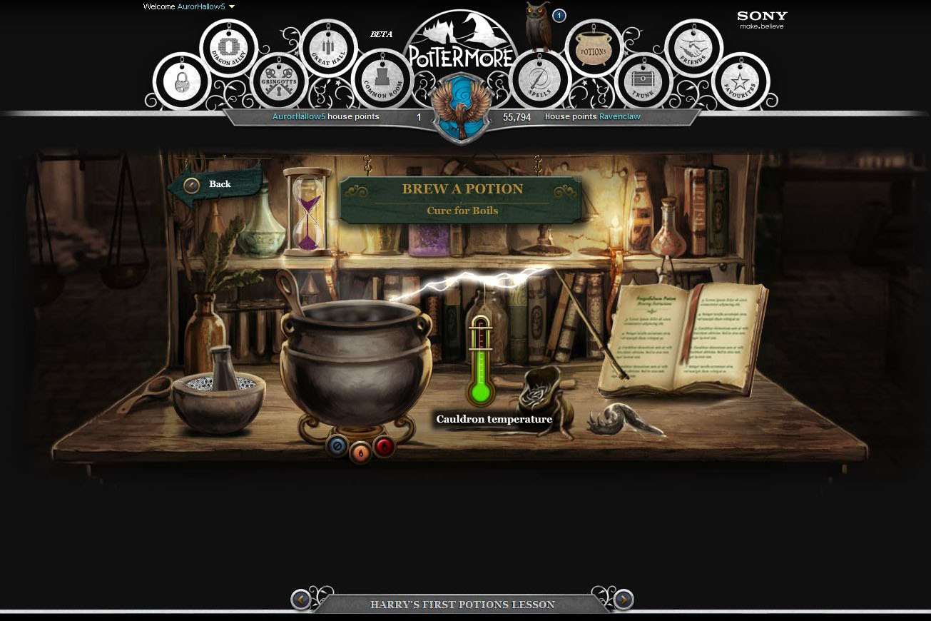Pottermore - Lektvary