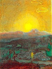 Josef Váchal, Západ slunce nad Javorem, cyklus o Šumavě