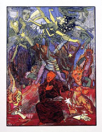 Josef Váchal, Kolozpěv srdcí, cyklus Ruce